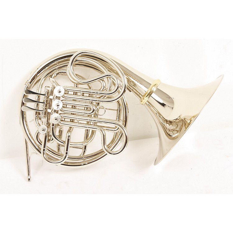 Hans Hoyer 6801NSA-L Heritage Double Horn Nickel Silver, Screw Bell 886830311369