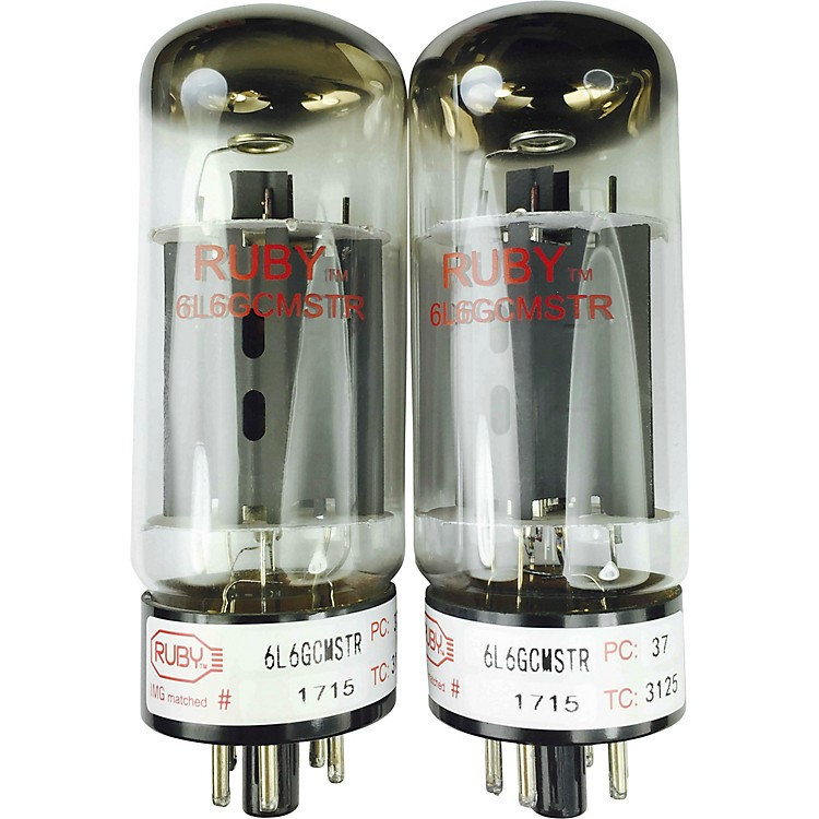 Ruby 6L6GCMSTR Matched Amp Tubes  Quartet