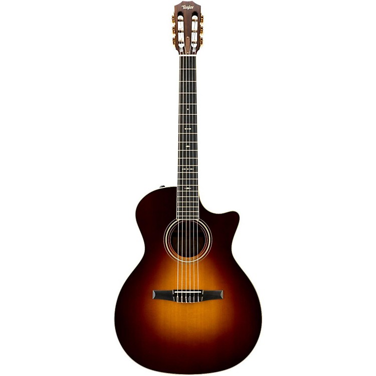 Taylor700 Series 714CE-N Grand Auditorium Acoustic-Electric Nylon String GuitarVintage Sunburst