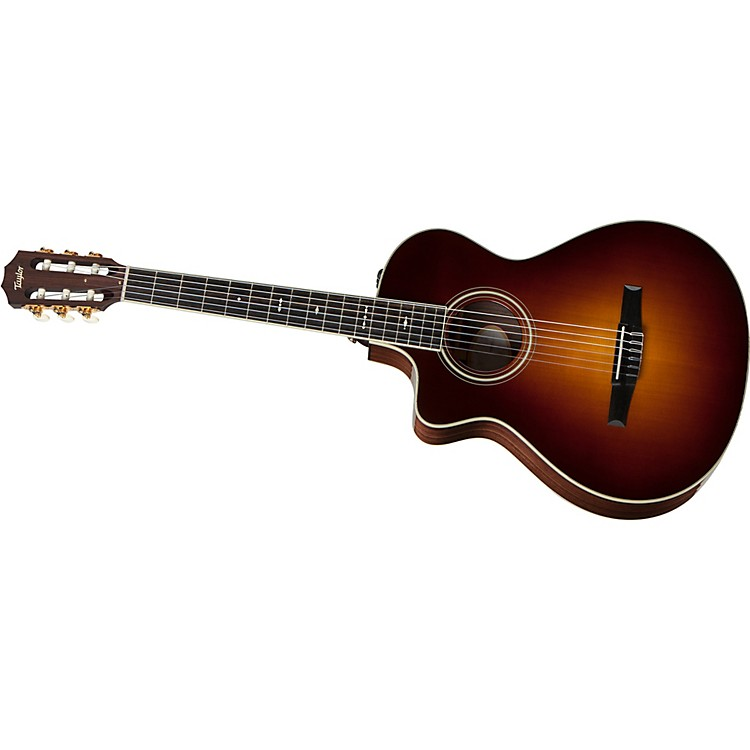 Taylor 712ce-N-L Rosewood/Spruce Nylon String Grand Concert Left-Handed Acoustic-Electric Guitar Vintage Sunburst