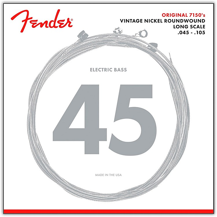 Fender7150M Pure Nickel Long Scale Bass Strings - Medium