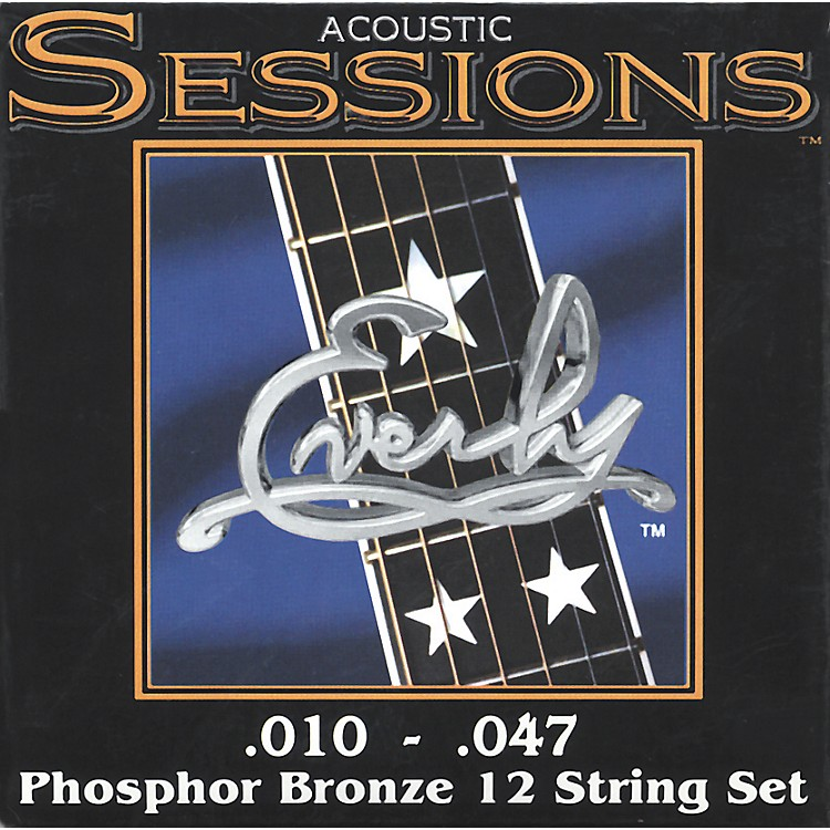 Everly7210-12XL Acoustic Sessions Phosphor/Bronze Extra Light 12-String Guitar Strings