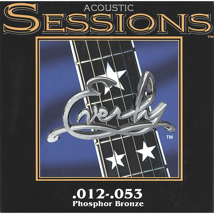 Everly7212 Acoustic Sessions Phosphor/Bronze Medium Acoustic Guitar Strings