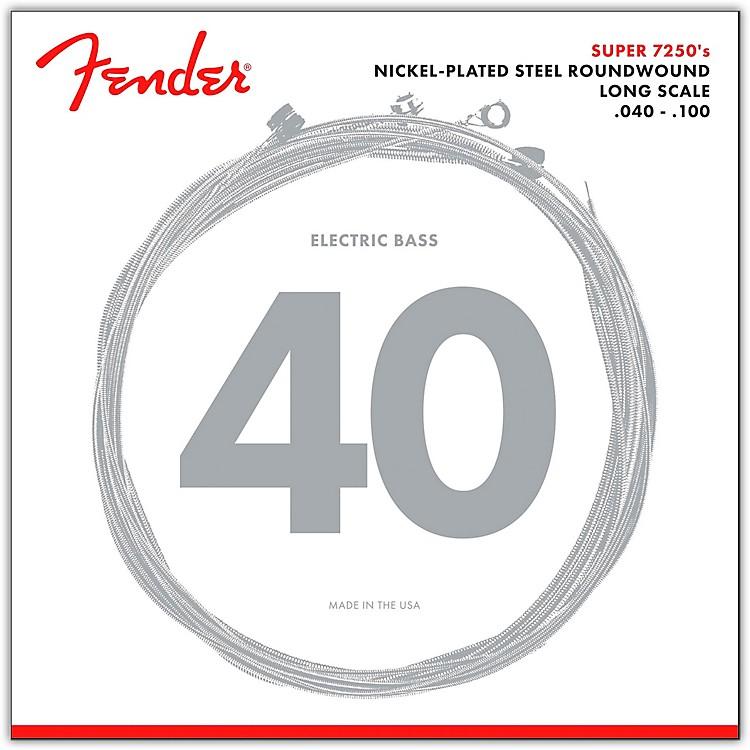 Fender7250L Super Bass Nickel-Plated Steel Long Scale Bass Strings - Light