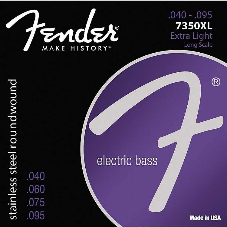 Fender7350XL Stainless Steel Long Scale Bass Strings - Extra Light