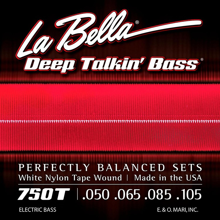 LaBella750T White Nylon Tape Wound Light Electric Bass Strings