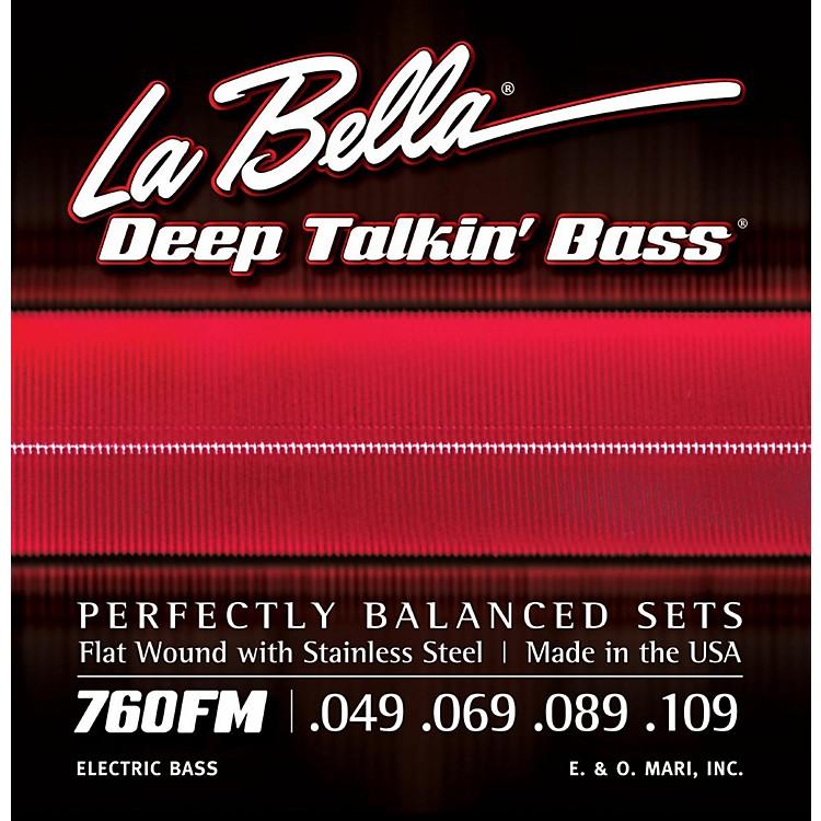 LaBella760FM Deep Talkin' Bass Flat Wound Medium Electric Bass Strings