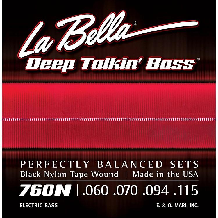 LaBella760N Black Nylon Tape Wound Standard Electric Bass Strings