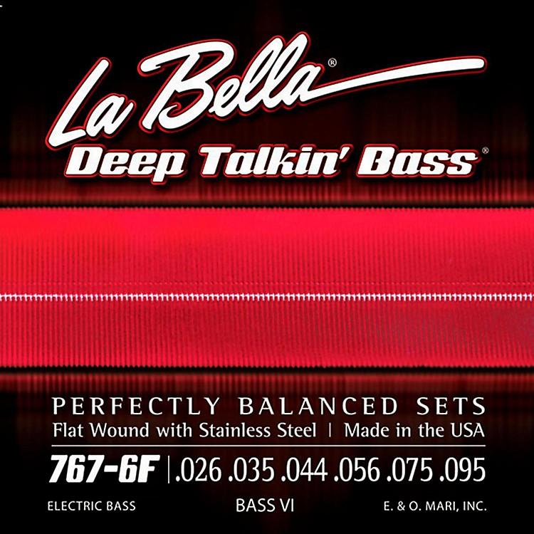 LaBella767-6F Flat Wound 6-String Bass VI Strings