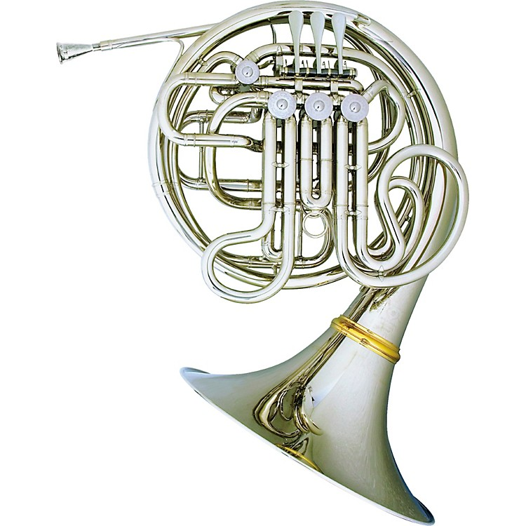 Hans Hoyer 7801 Nickel Double French Horn Nickel