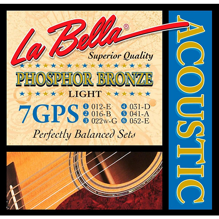 LaBella7GPS Phosphor Bronze Light Acoustic Guitar Strings