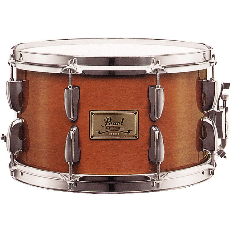 Pearl 8-Ply Maple Soprano Snare Drum Liquid Amber 12X7 Inches