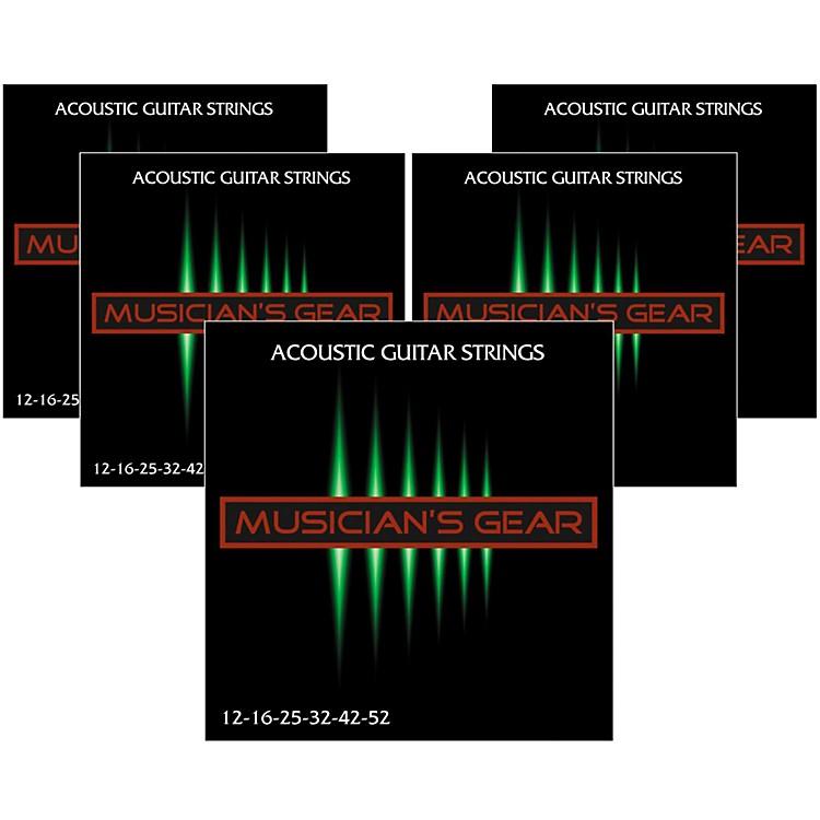 Musician's Gear80/20 Bronze Acoustic Guitar StringsLight 5-Pack