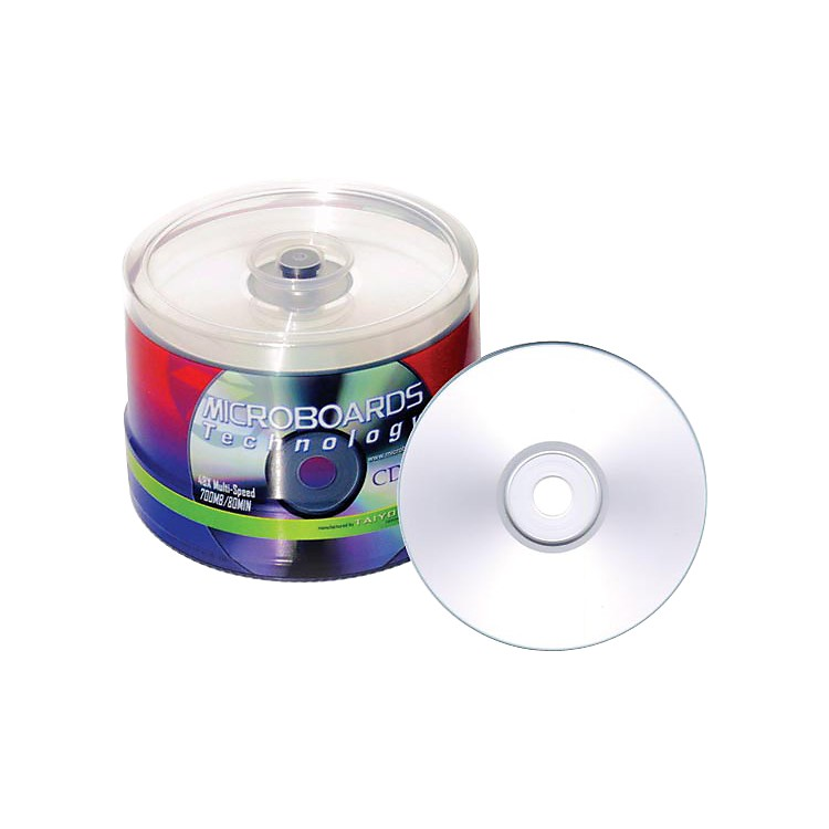 Taiyo Yuden80 Minute/700 MB CD-R, 52X, Silver Inkjet Printable, 100 Disc Spindle