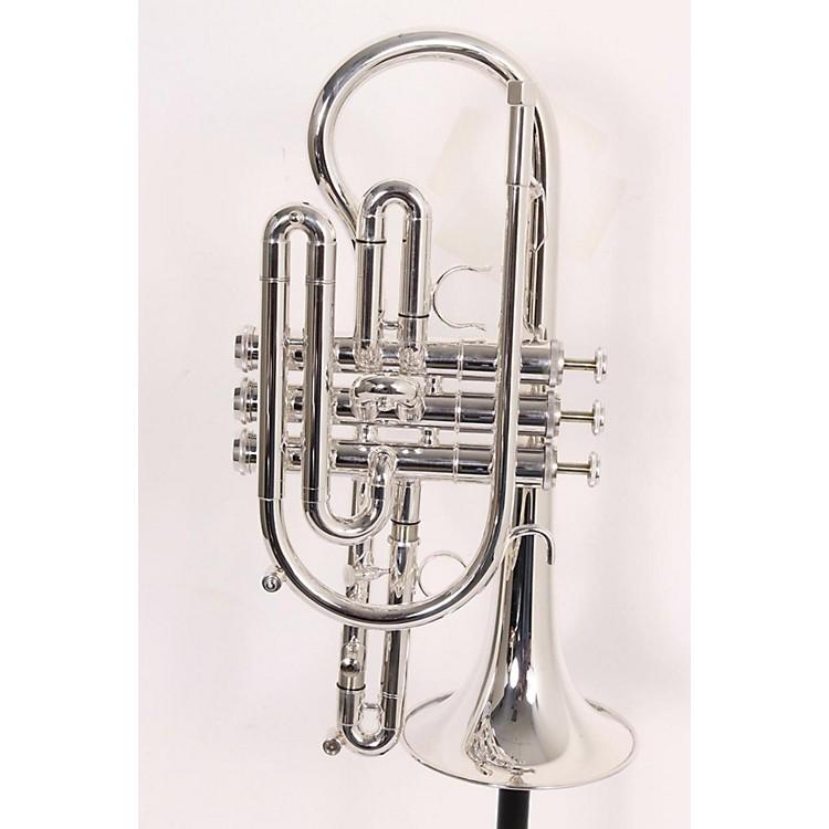 Getzen800 Eterna Series Bb Cornet800S Silver Yellow Brass Bell .460 Bore886830901287