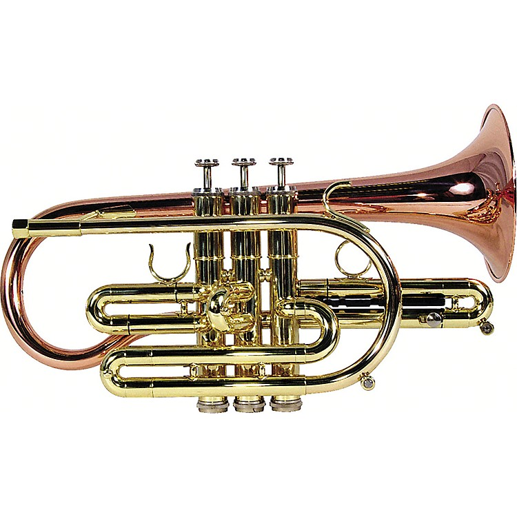 Getzen 800 Eterna Series Bb Cornet 800SL Silver Yellow Brass Bell .464 Bore