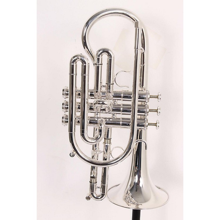 Getzen 800 Eterna Series Bb Cornet 800S Silver Yellow Brass Bell .460 Bore 886830901287