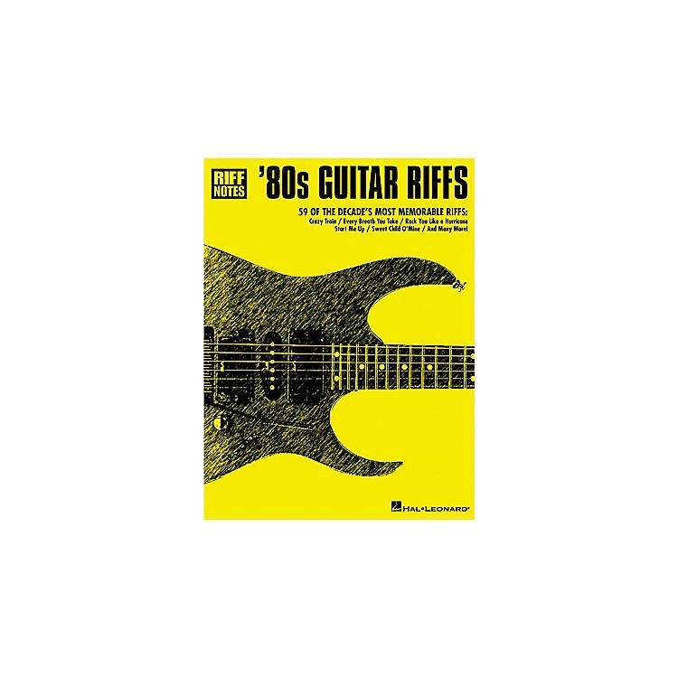 Hal Leonard80s Guitar Riffs Guitar Tab Book
