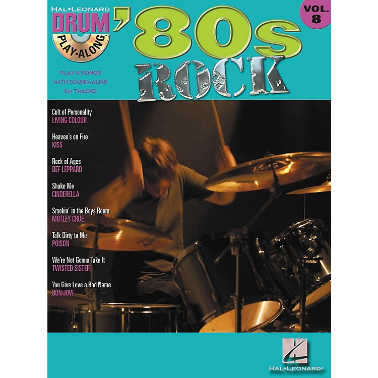 Hal Leonard'80s Rock Drum Play-Along Volume 8 - Book/CD