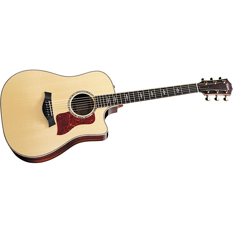 Taylor 810ce-L Rosewood/Spruce Dreadnought Left-Handed Acoustic-Electric Guitar