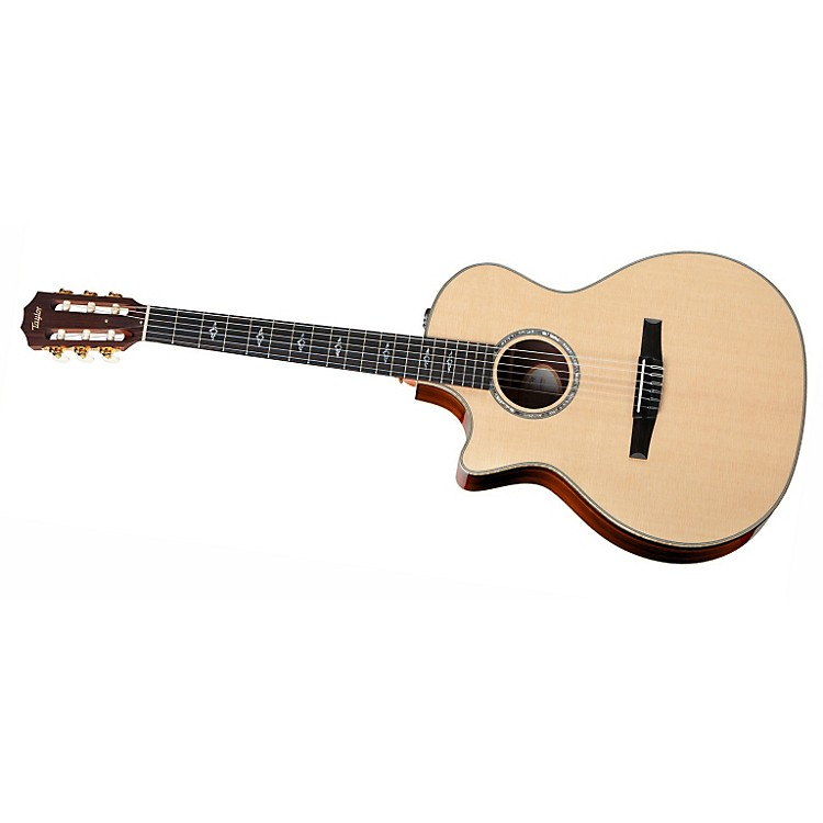 Taylor 814ce-N-L Rosewood/Spruce Nylon String Grand Auditorium Left-Handed Acoustic-Electric Guitar