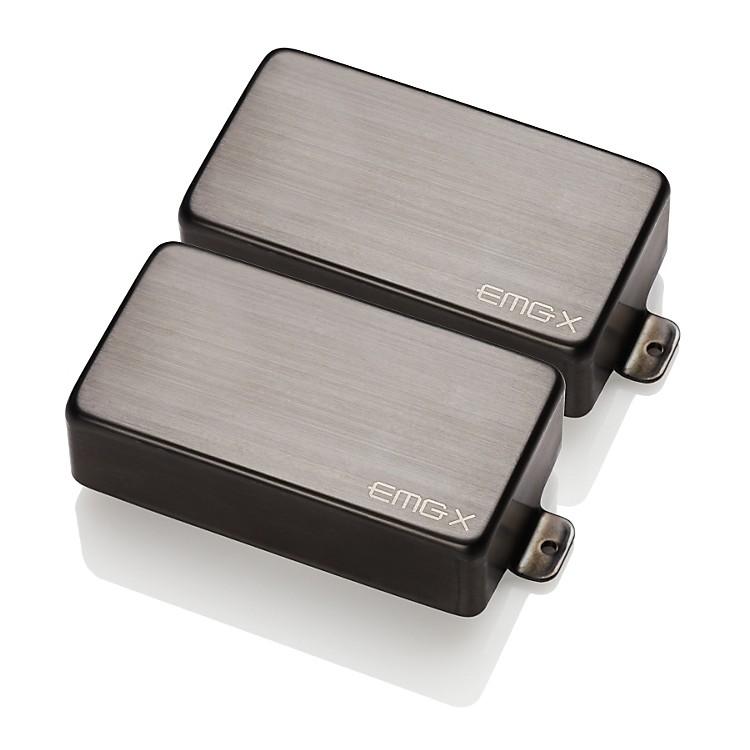 EMG81X/60X Custom Humbucker SetBlack Chrome