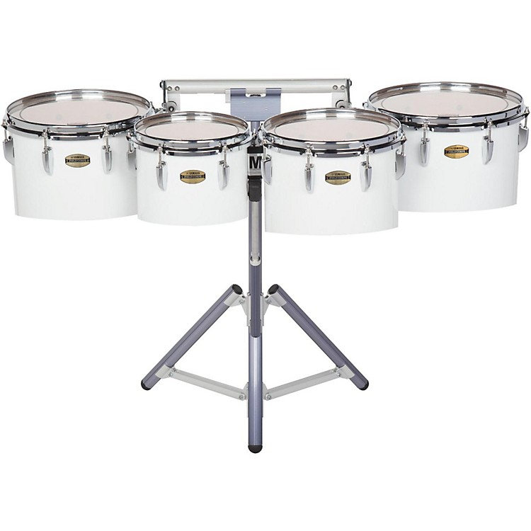 Yamaha8300 Series Field-Corp Series Marching Tenor Quad10, 12, 13 and 14 in.White wrap