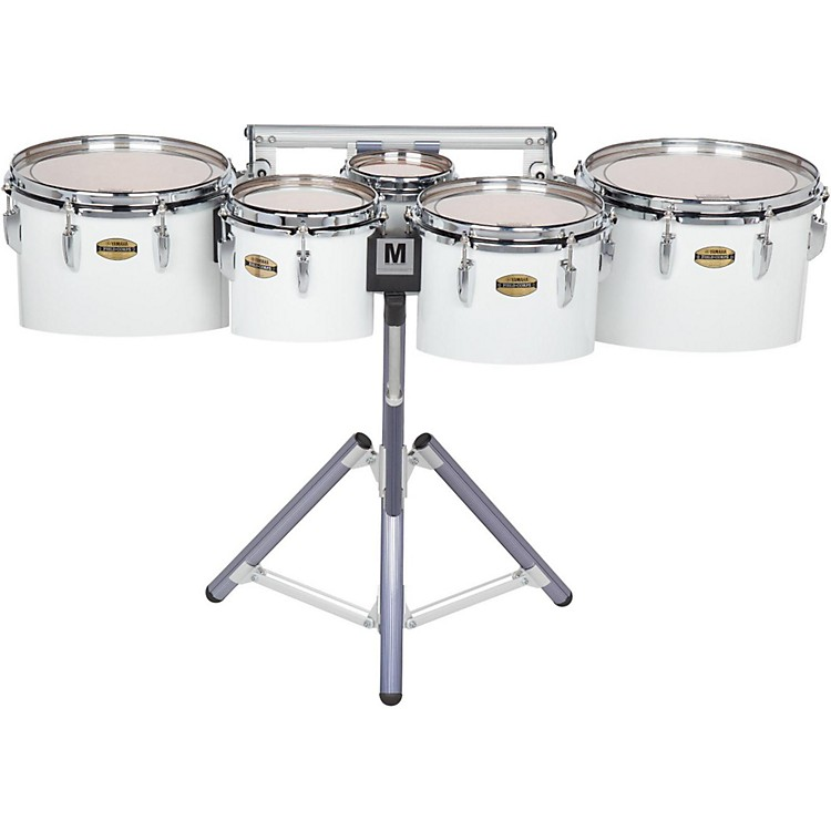 Yamaha8300 Series Field-Corp Series Marching Tenor Quint6, 8, 10, 12, 13 in.White wrap