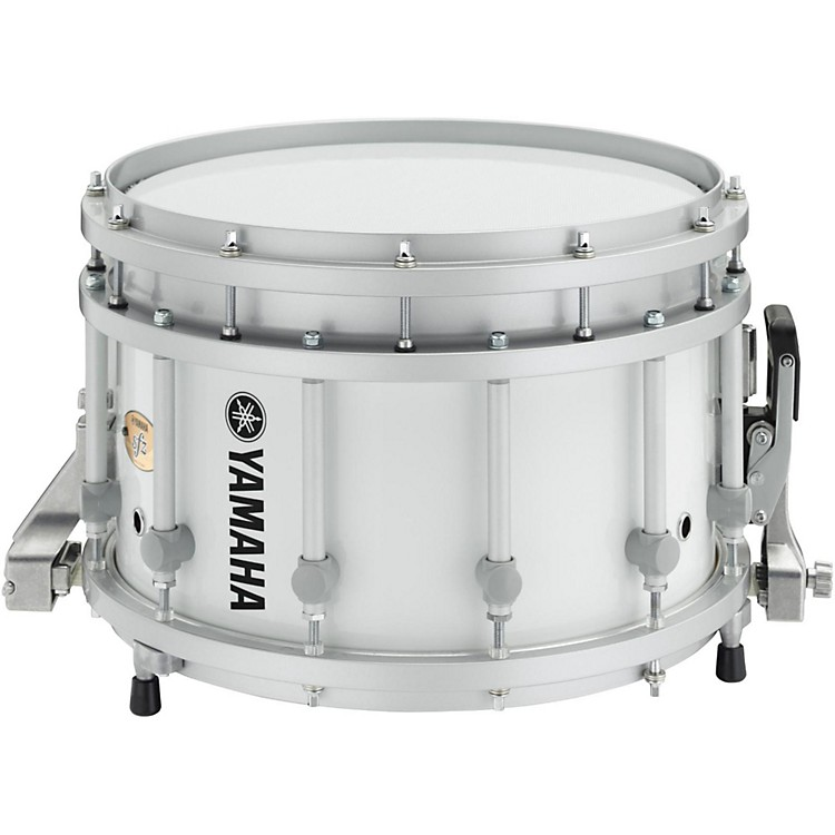 Yamaha 8300 Series Piccolo SFZ marching snare drum 14 x 9 in. White