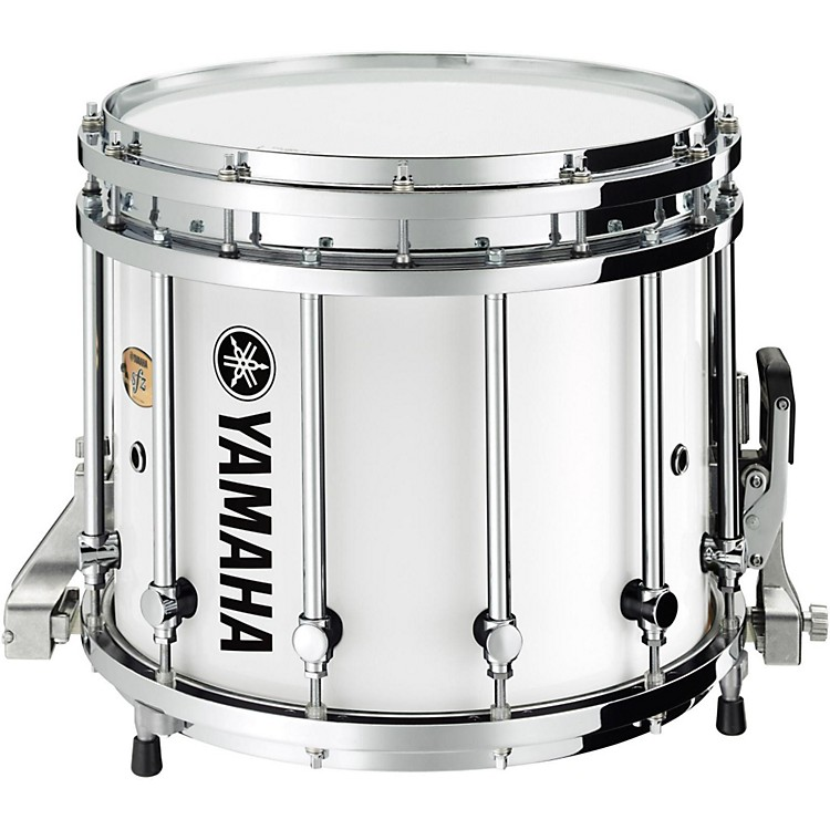 Yamaha8300 Series SFZ Marching Snare Drum14 x 12 in.White Forest with Chrome Hardware
