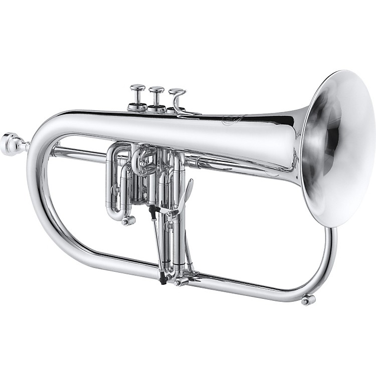 Jupiter 846 Series Bb Flugelhorn Silver Rose Brass Bell