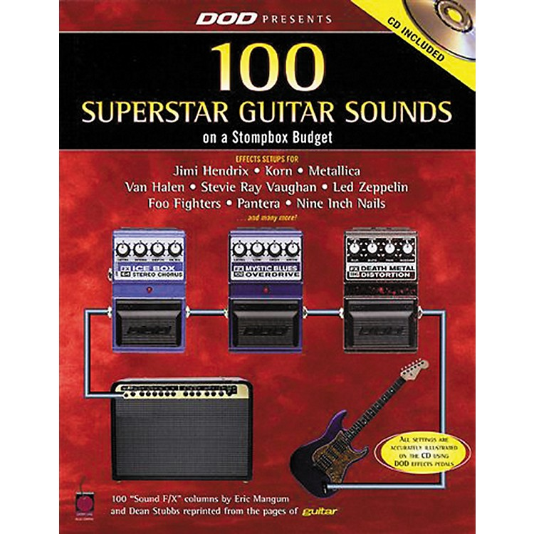 Hal Leonard 87 Superstar Guitar Sounds on a Stompbox Budget Book