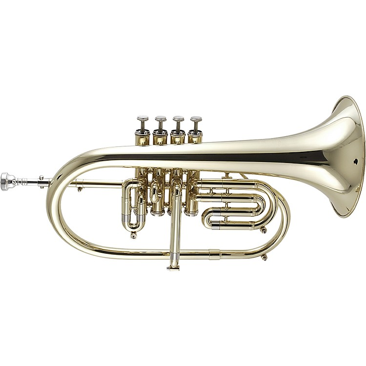 Getzen 895 and 896 Eterna Series Bb Flugelhorn 895ST Silver 3-Valve with 3rd Valve Trigger