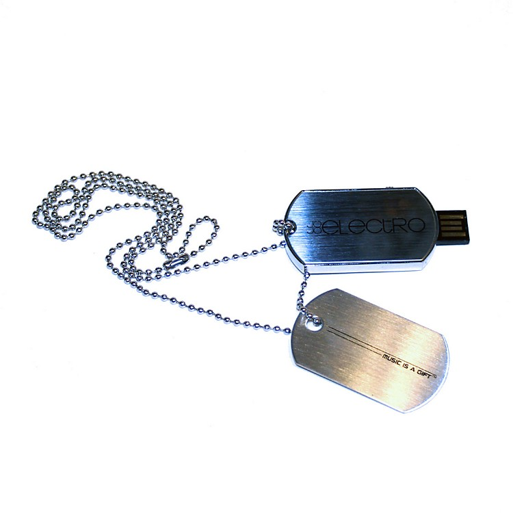 JoJo Electro 8GB USB Dog Tag Necklace