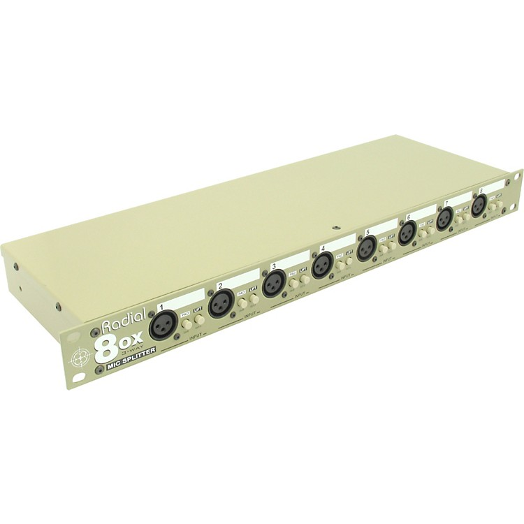 Radial Engineering 8ox Eight Channel 3-way Microphone Splitter