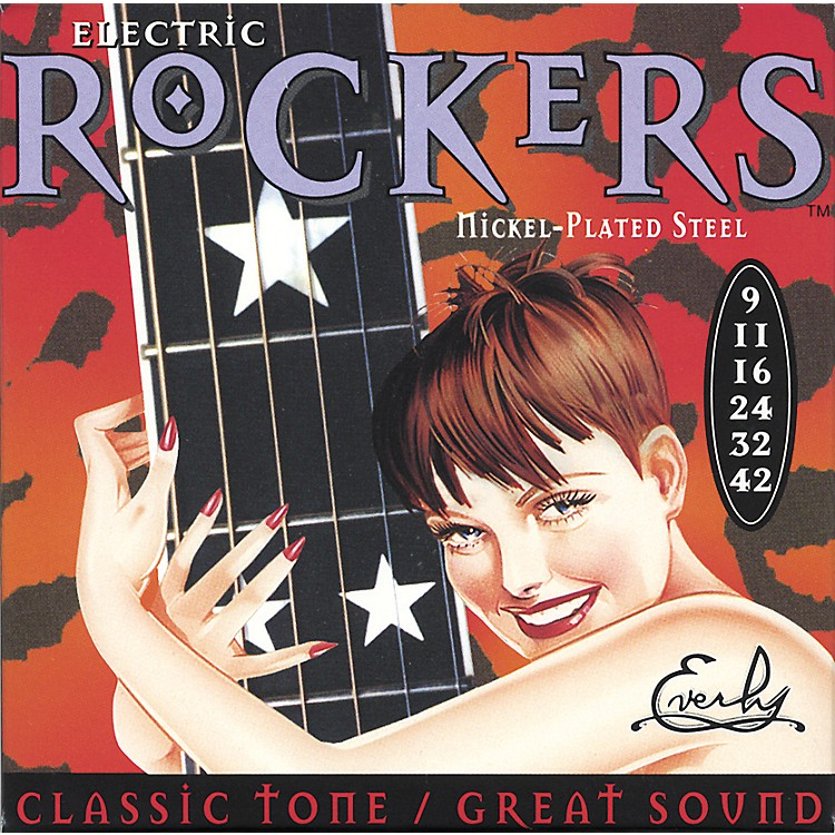Everly9009 Electric Rockers Nickel Light Electric Guitar Strings