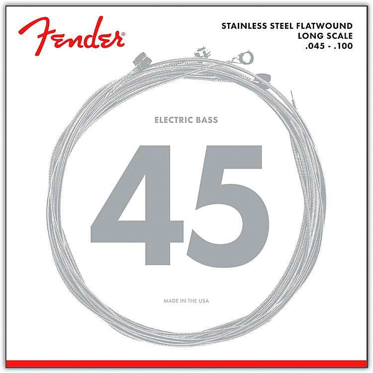 Fender 9050L Stainless Steel Flatwound Long Scale Bass Strings - Light