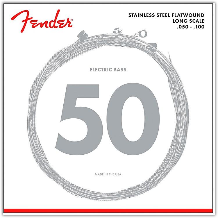 Fender9050ML Stainless Steel Flatwound Long Scale Bass Strings - Medium Light