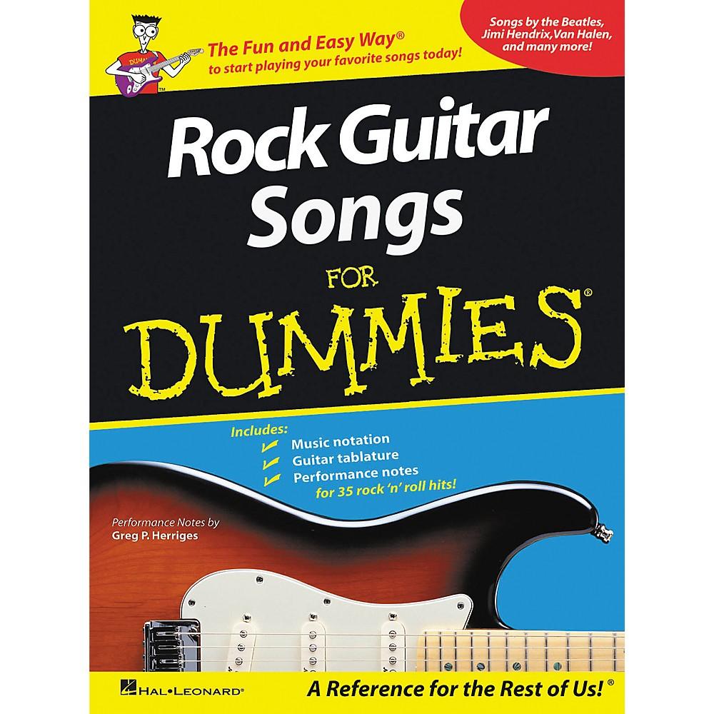 Hal Leonard Rock Guitar Songs for Dummies