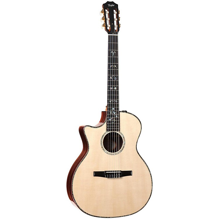 Taylor 914ce-N-L Rosewood/Spruce Nylon String Grand Auditorium Left-Handed Acoustic-Electric Guitar Natural