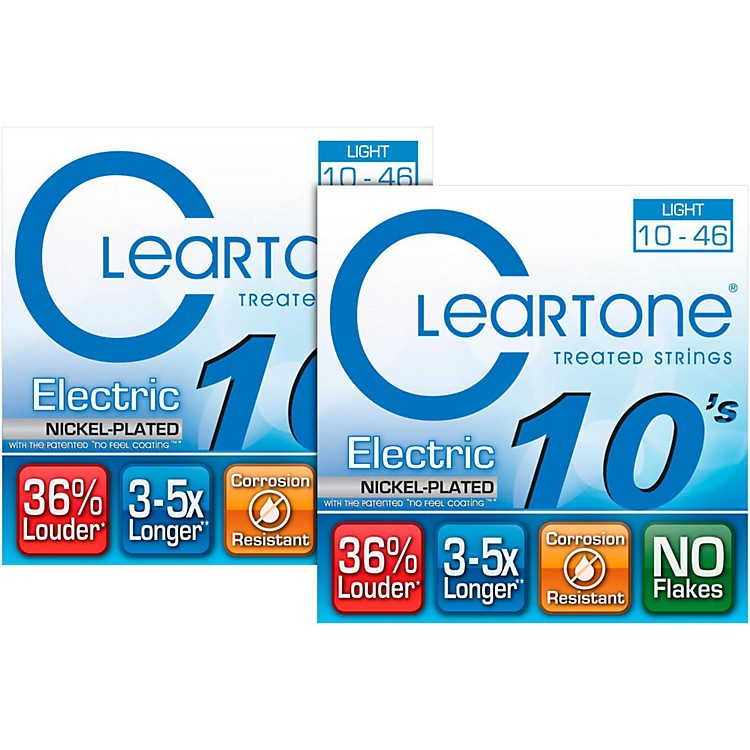 Cleartone9410 Treated Light Electric Guitar Strings (2-Pack)