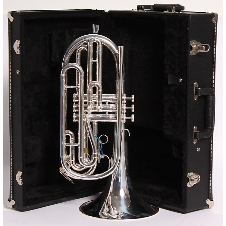 Kanstul 955 Series Marching Trombone 955-2 Silver 886830029509