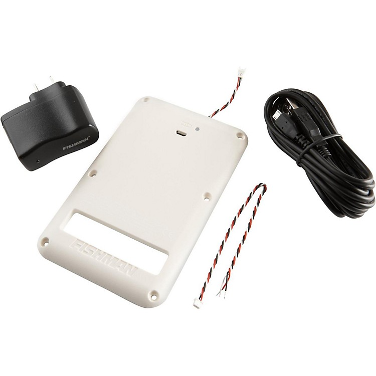 Fishman9V Rechargeable Battery Pack for Strat White