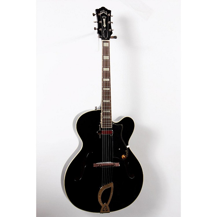 Guild A-150 Savoy Hollowbody Archtop Electric Guitar Black 888365669670