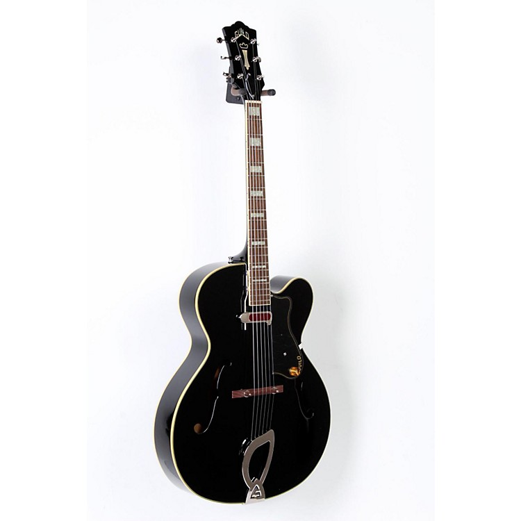 Guild A-150 Savoy Hollowbody Archtop Electric Guitar Black 888365680514