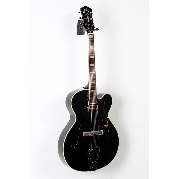 Guild A-150 Savoy Hollowbody Archtop Electric Guitar Black 888365810713