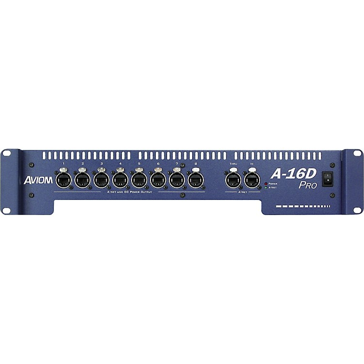 Aviom A-16D Pro A-Net Distributor and DC Power Source Aviom Blue