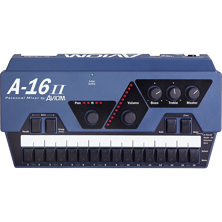 Aviom A-16II Personal Mixer Aviom Blue