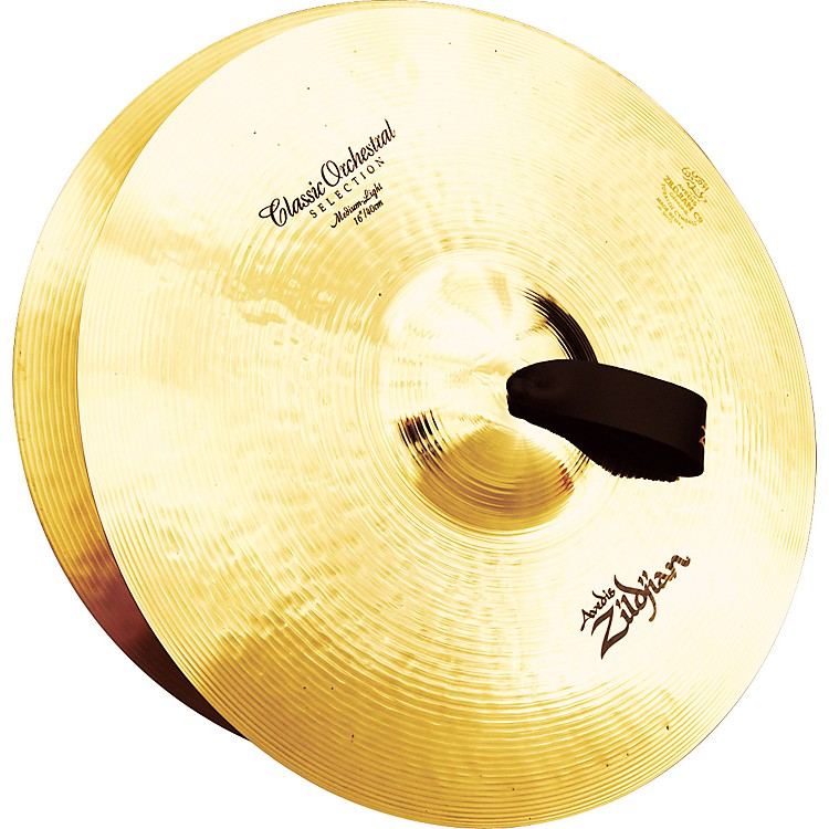 Zildjian A Classic Orchestral Medium Light Crash Cymbal Pair  16 in.