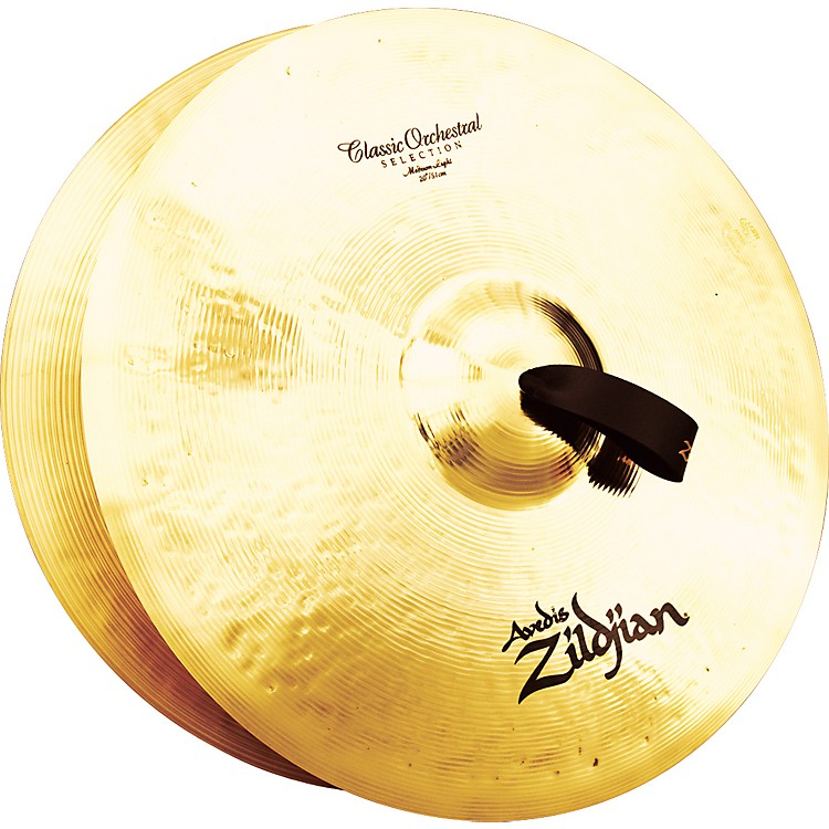 Zildjian A Classic Orchestral Medium Light Crash Cymbal Pair  20 in.